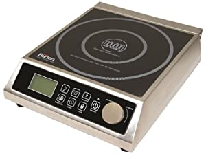 Max Burton 6515 Digital ProChef-1800 Induction Cooktop, Digital Controls, 10 Adjustable Watt and 15 Temperature Settings, Timer, Program Lock, Programmable Cooking, 1800W, 120V