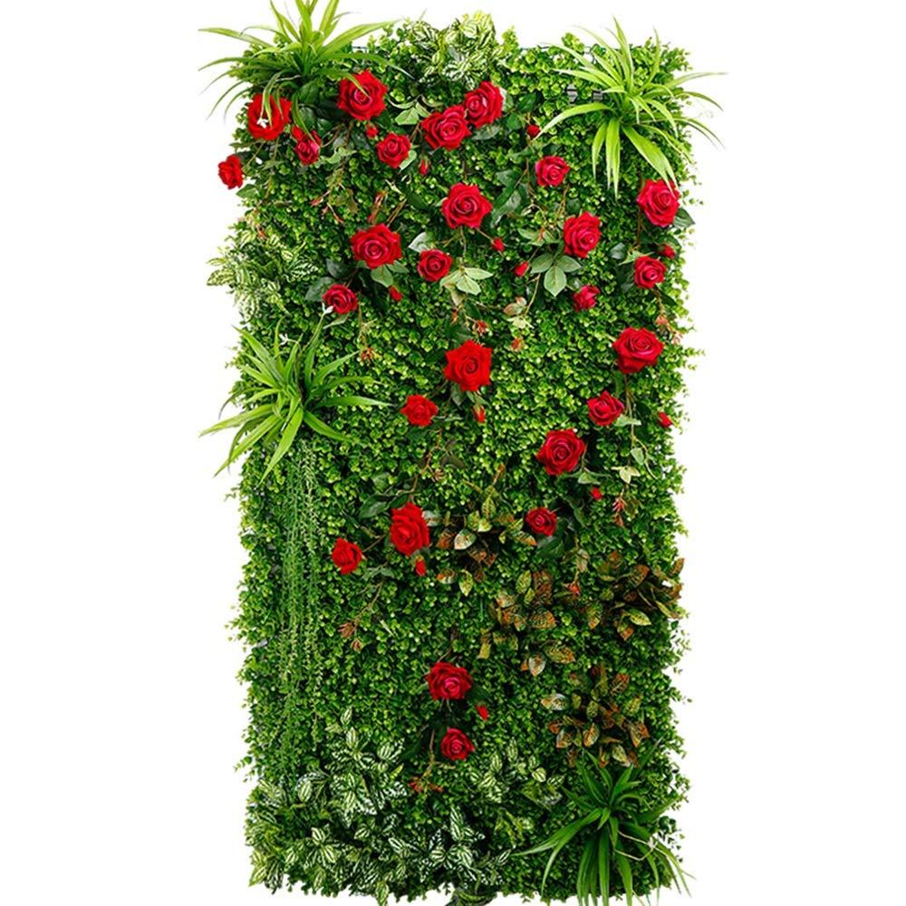 背景壁 - 緑の壁の装飾芝の壁のシミュレーション花の壁の背景壁の緑(4スタイルの選択) (色 : D) B07K9XH7HH D