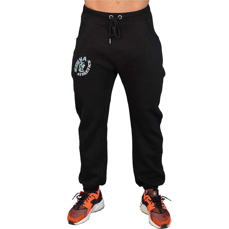 STILYA Sportswear Herren Sporthose Jogginghose Trainingshose Bodybuilding 1115 schwarz