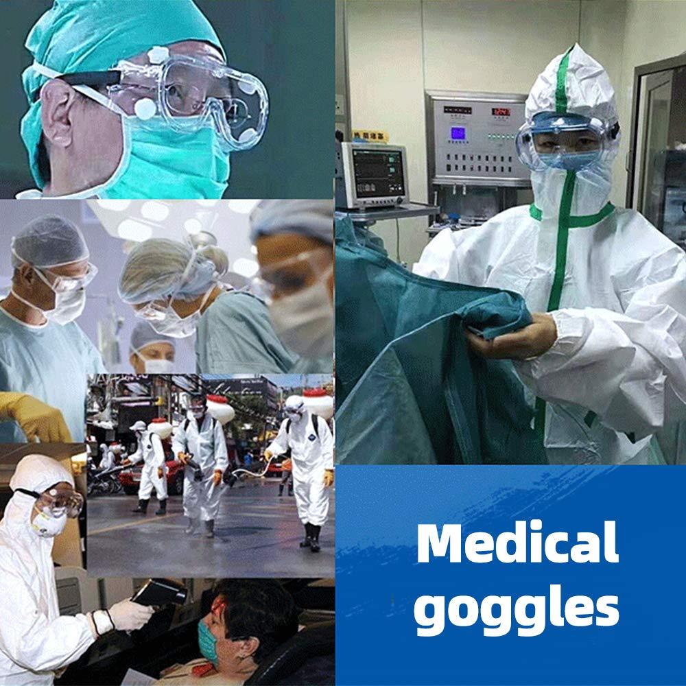 occhiali di sicurezza trasparenti 3M anti-saliva Hinataa occhiali protettivi per miopia e fascia regolabile occhiali di sicurezza per occhiali protettivi