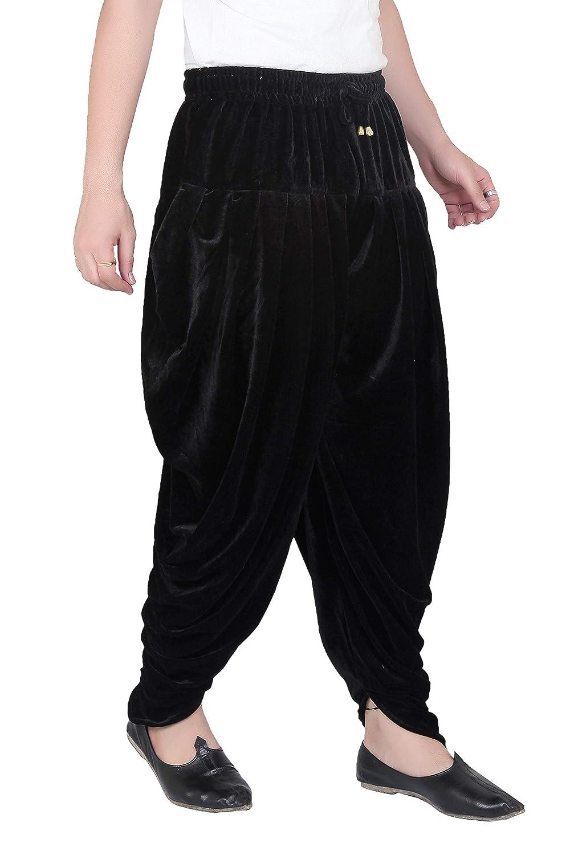 Patiala-Pants-Salwar-fuer-Maenner-Samt-elastischer-Bund-handgefertigt-laessig-Wear Indexbild 7