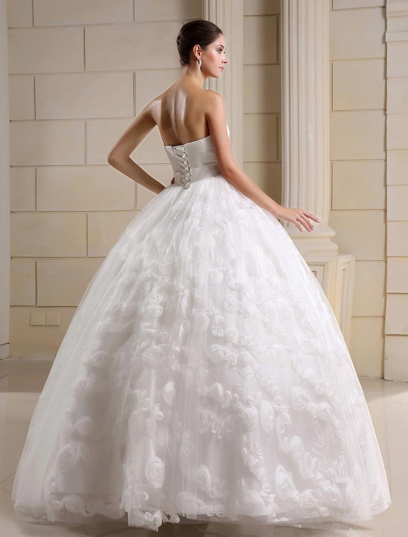 Bezauberndes Brautkleid Hochzeitskleid ohne Schleppe, mit Schnürung ...