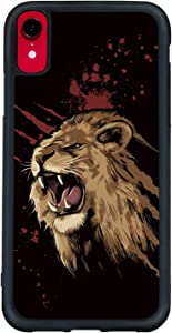 Lion King Phone Case for iPhone XR - Shockproof Protective Cool Cute Animal Print Phone Case Designed for iPhone XR Case for Boys Man Black White Brown Yellow Red