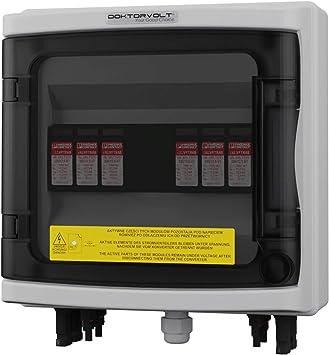 Caja de conexión solar fotovoltaica DC 1000 V T1 T2 2 cuerdas MC4 protección contra sobretensiones Doktorvolt 2421: Amazon.es: Bricolaje y herramientas