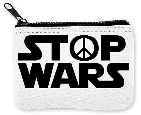 Stop Wars Hippie Peace Black Logo Monedero de la Cremallera ...