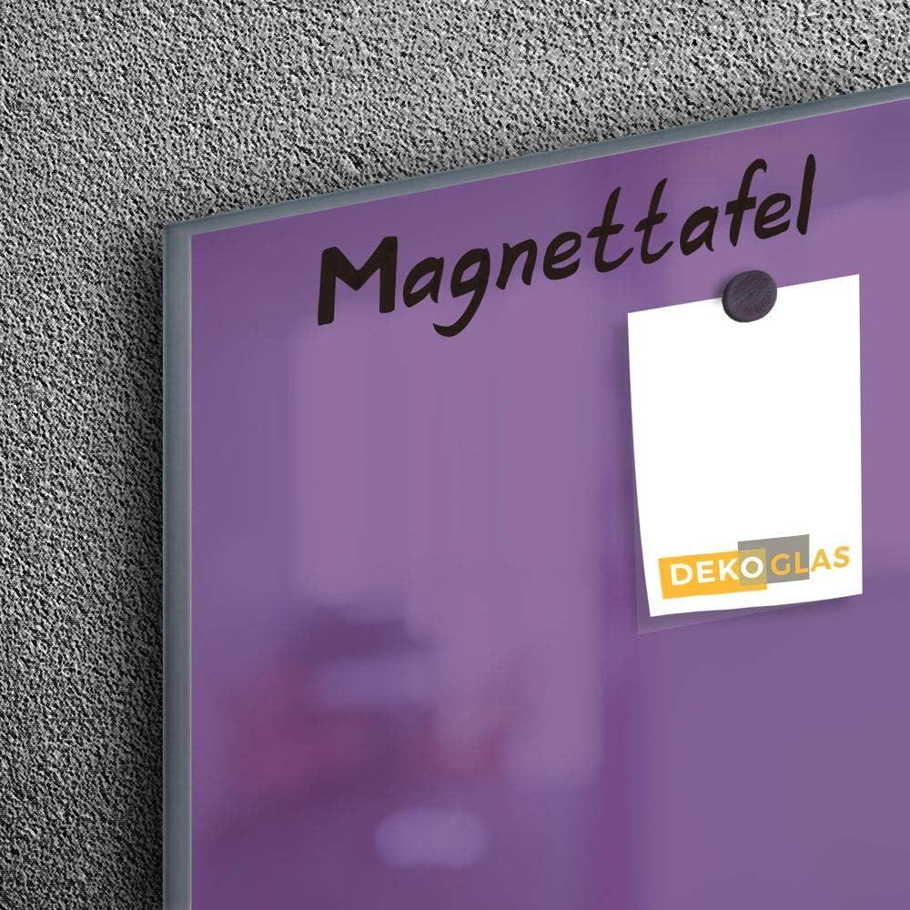 Chiffon et aimants 90 x 60 cm DekoGlas Tableau magn/étique en Verre avec Stylet