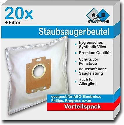 20 Sacchetto per aspirapolvere adatto per Philips S-BAG