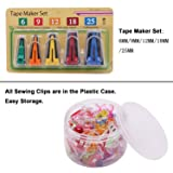 5 Sizes Bias Tape Maker Set and 100 Pieces