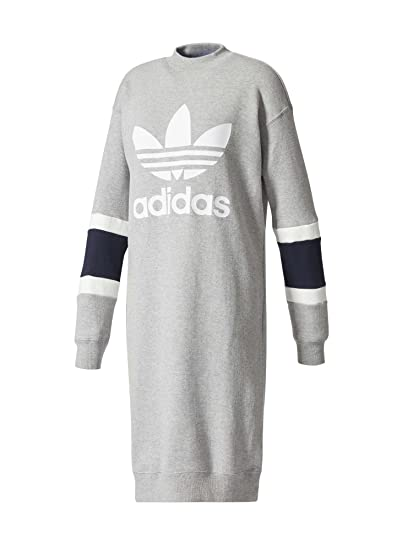 coupon codes pretty nice official images adidas Originals Robe Pull Col Rond Gris Femme: Amazon.fr ...