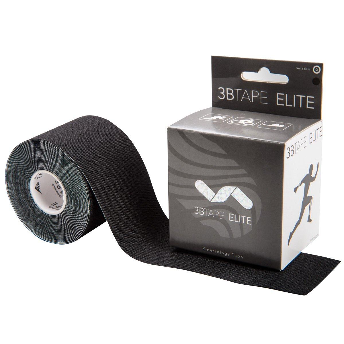 3B Scientific, 1018891, 3BTape ELITE Kinesiology Tape, Black, 16ft roll