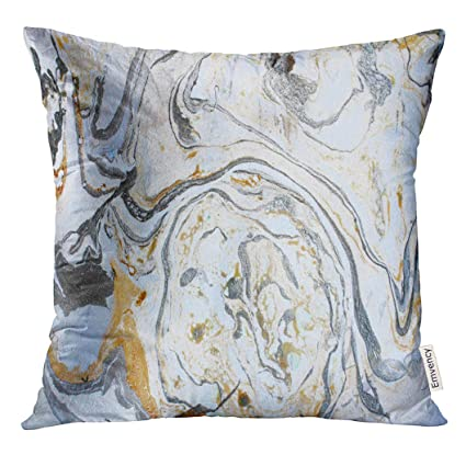 Amazoncom Emvency Throw Pillow Cover Watercolor Abstract Marbling