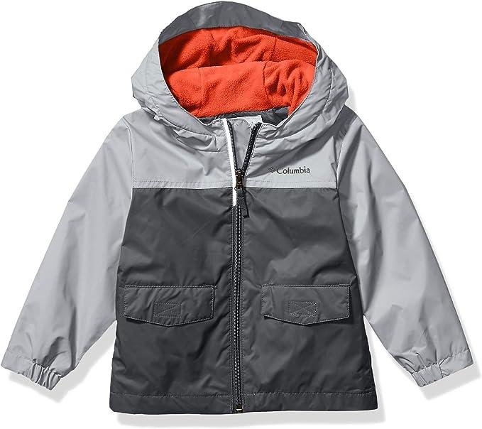 Columbia Boys' Big Rain-Zilla Jacket, Grill/Slate Grey, XX-Small