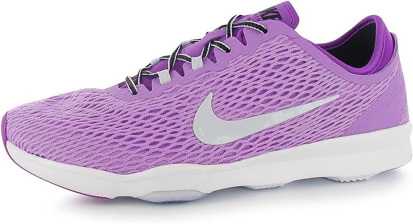 crucero Pies suaves damnificados  Nike Zoom Fit Zapatillas de Entrenamiento para Mujer, Color Rosa/Plata  Gimnasio Fitness Zapatillas Zapatillas, Fuchsia/Silver: Amazon.es: Deportes  y aire libre