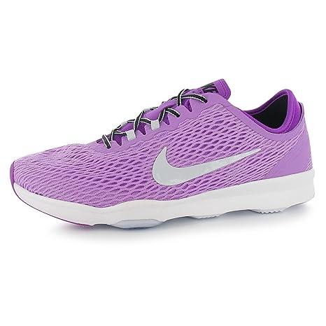 Nike Zoom Fit Zapatillas de Entrenamiento para Mujer, Color Rosa/Plata Gimnasio Fitness Zapatillas