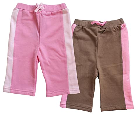 bb66cba41f3 Girls Pack of 2 Pink   Brown Knee Length Summer Shorts Sizes from 9 Months  to 4 Years  Amazon.co.uk  Clothing