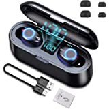 Keymao Wireless Earphones, Bluetooth Earbuds, Wireless Earbuds with Charging Case,LED Digital Display Touch Control 50H…