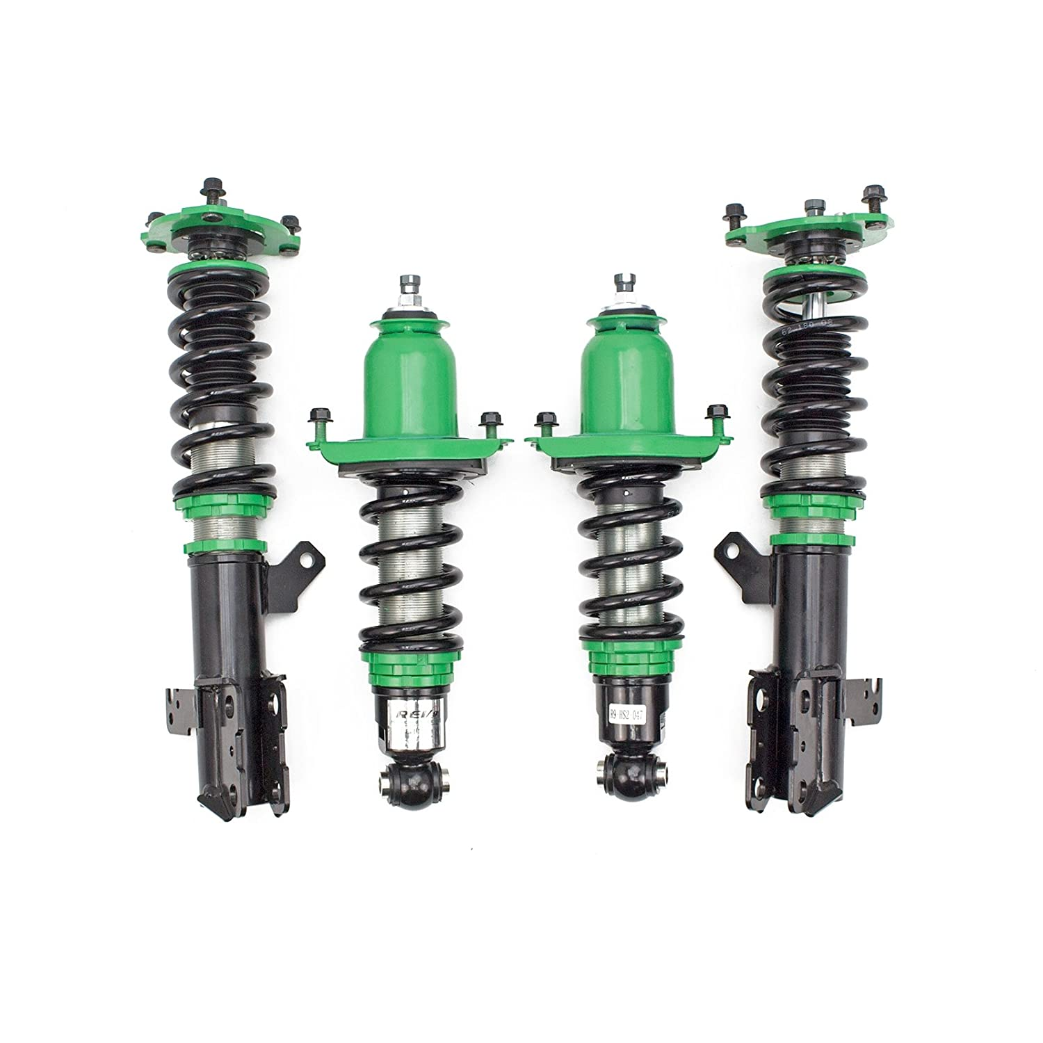 Ride Height Adjustable Rev9 R9-HS2-047 compatible with Scion tC 2005-10 Hyper-Street II Coilovers Lowering Kit 32 Damping Level Adjustment