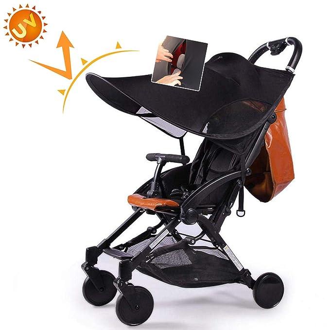 AUVSTAR Protector solar Universal para cochecitos,Toldo Protector Solar Universal para Cochecitos,protección UV,Parasol ajustable,Instalación ...