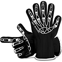 Heat Guardian Heat Resistant Gloves – Protective Gloves Withstand Heat Up To 932℉ – Use As Oven Mitts, Pot Holders, Heat…