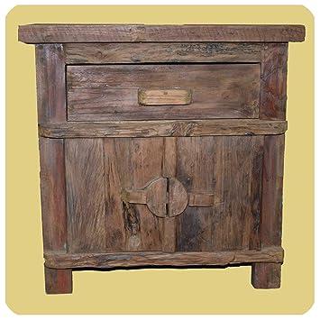 Merveilleux Simandra Massivholz Kommode Shabby Chic Vintage Teak Holz Möbel Unikat  Handarbeit Antik 2