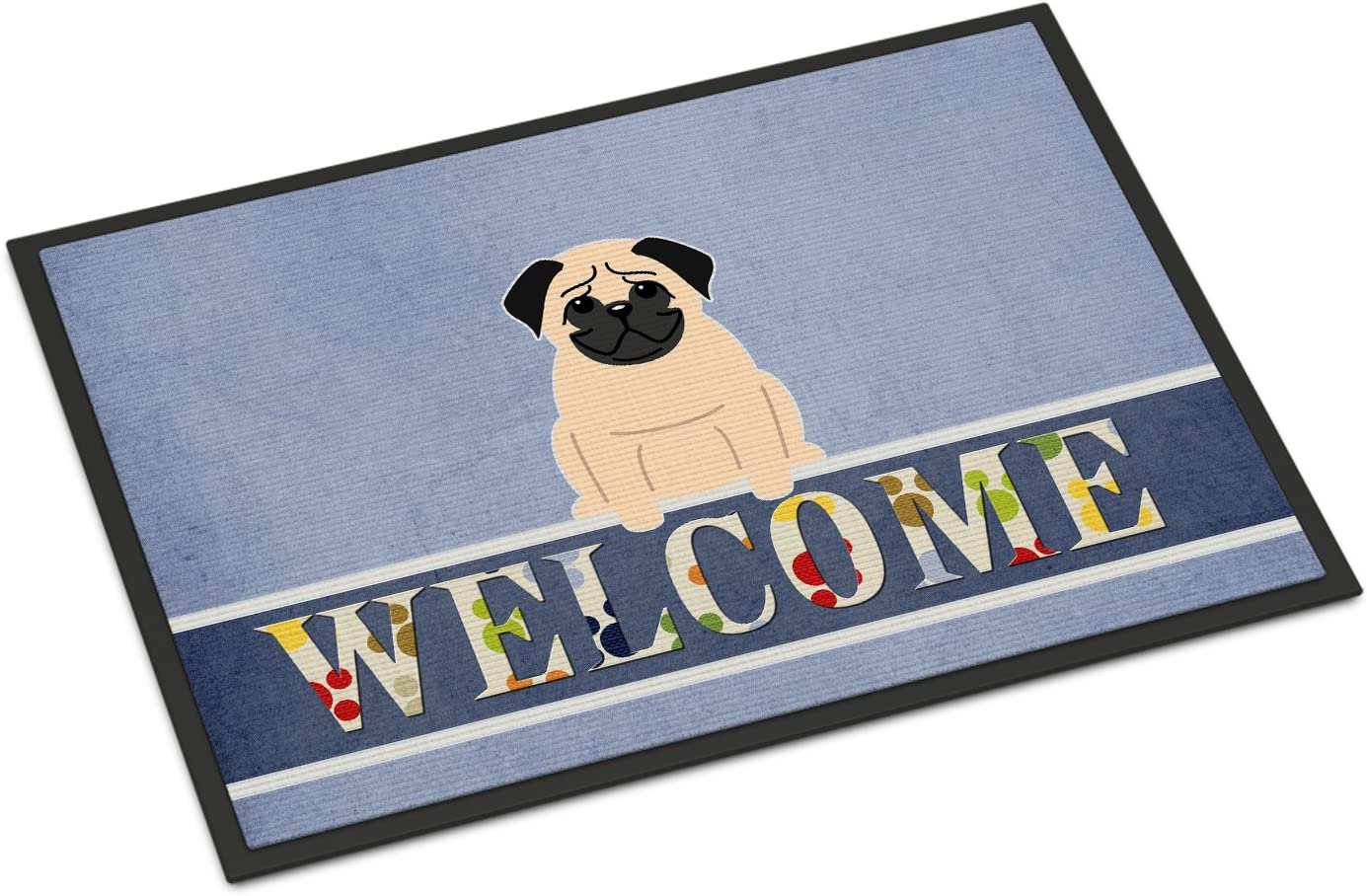 Caroline s Treasures BB5589MAT Pug Fawn Welcome Indoor or Outdoor Mat 18×27, 18H X 27W, Multicolor