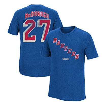 51bf16e45 CCM Ryan McDonagh New York Rangers Vintage Player Blue N N Jersey T-Shirt  Men s
