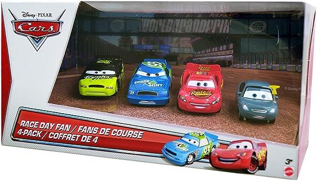 Disney Cars Race Day Fan 4-Pack Die-Cast [Lightning, Marty Brakeburst, Spare O Min No. 93, Trunk Fresh No.34]: Amazon.es: Juguetes y juegos