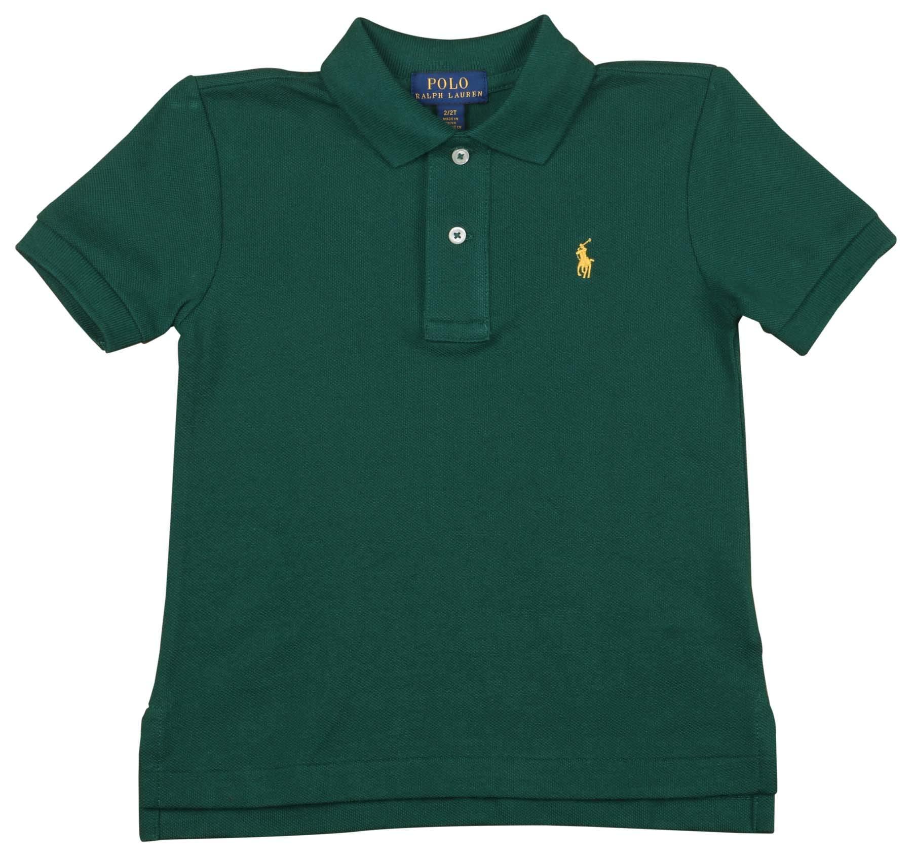 Polo RL Toddler Boy's (2T-5T) Mesh Polo Shirt-Pine Green-3T