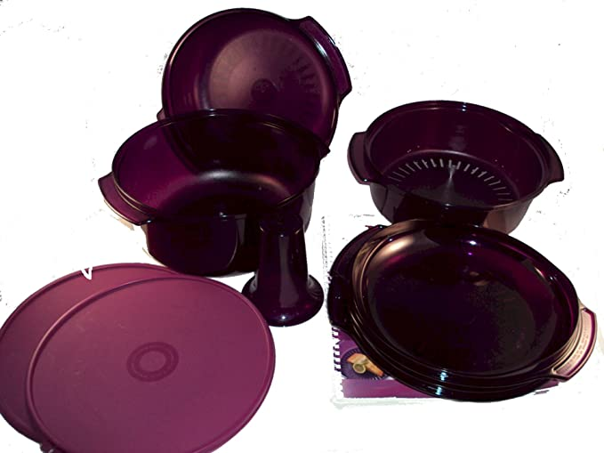 Tupperware Ronda pila cocina 9 pc morado microondas: Amazon.es: Hogar