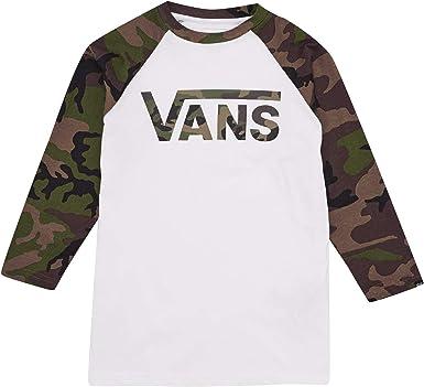 Vans Classic Raglan Camiseta para Niños - algodón: Amazon.es: Ropa y accesorios