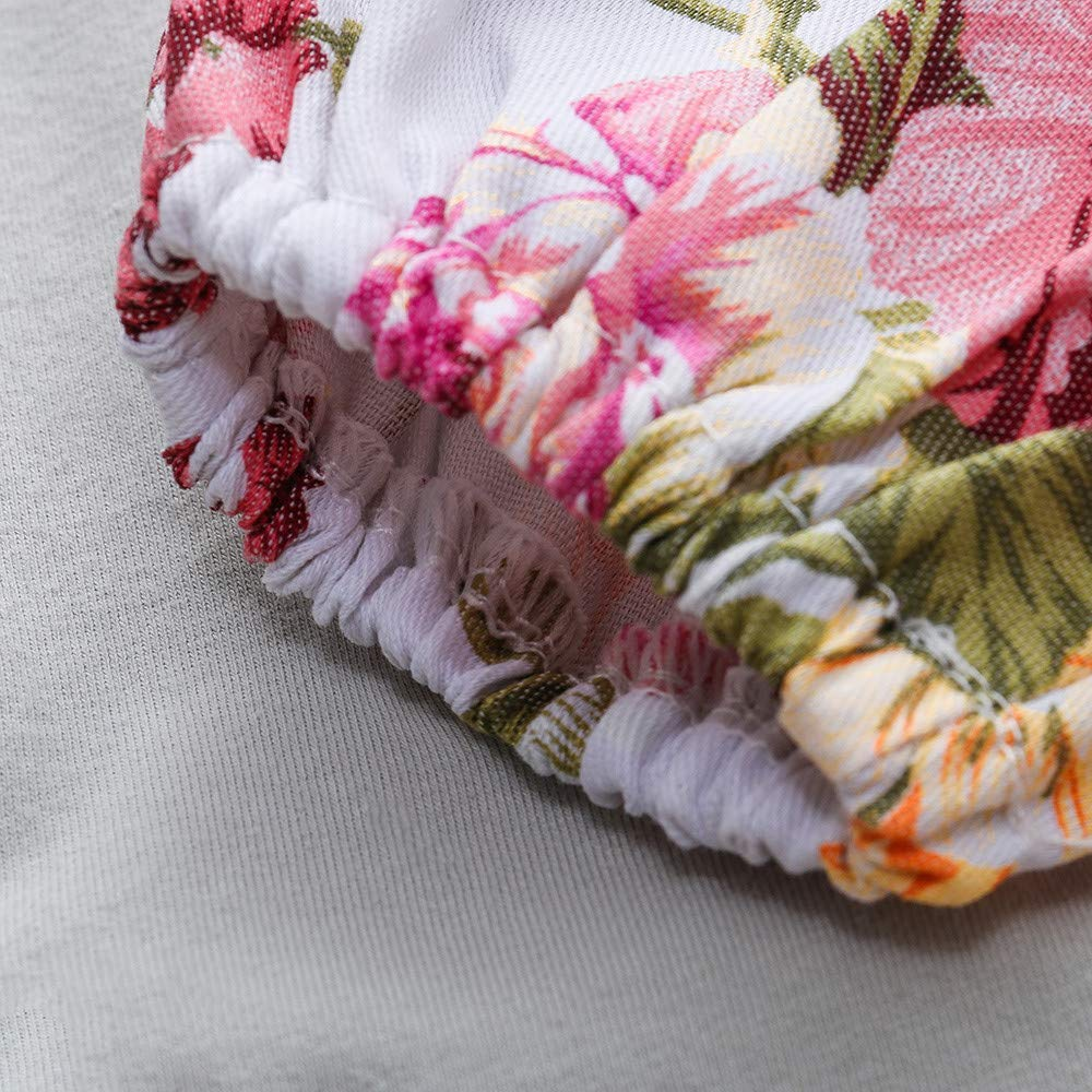 Haarband 3 St/ück Neugeborenes Outfit Baby Strampler Kinderkleidung Blumendruck Hosen BeautyTop Baby M/ädchen Kleidungsset Baby Kleinkind Langarm Solid Spielanzug