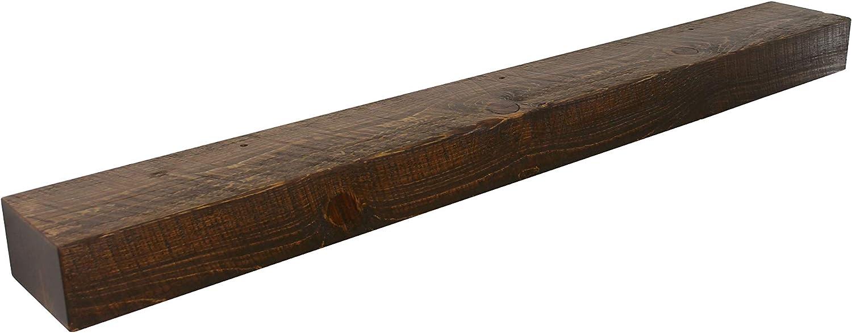 Mantel Shelf Wooden Shelf 4x4 Solid Floating Beam Rustic Reclaimed Mantle Pine