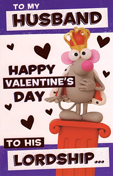 Amazon Com Lordship Husband Happy Valentine S Day Greeting Card