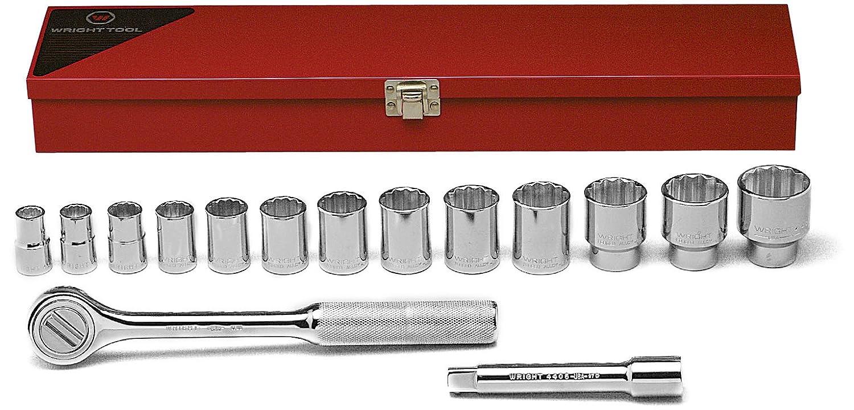Wright Tool 417 12-Point Standard Socket Set, 15-Piece by Wright Tool  B002M3ORGQ