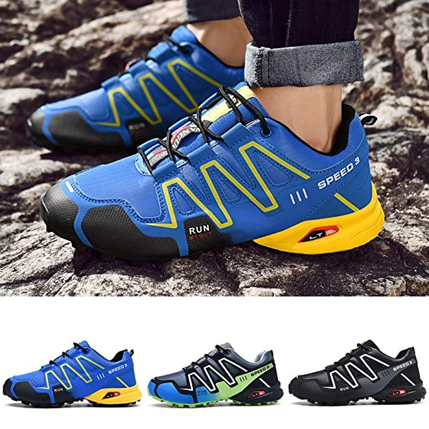 Amazon.com: Mysky Fashion Men Casual Mixed Color Comfortable Outdoor Hiking Shoes Men Brief Lace Up Athletic Running Sneakers: Shoes