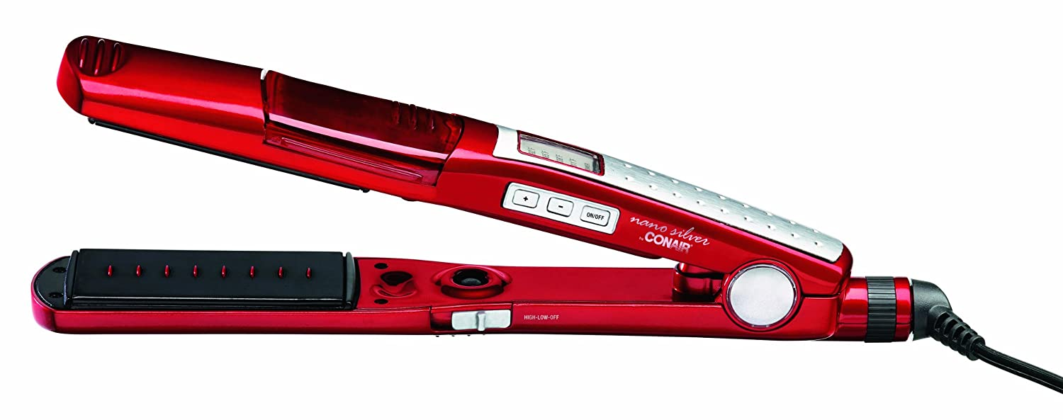 Infiniti Pro by Conair Ionic Steam Flat Iron; 1 1/2-inch; Red - Amazon Exclusive with Bonus Heat Instrument Case