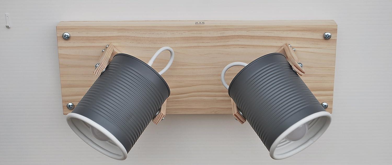 ▄ Faretti direzionabili - lampadine LED incluse ▄ Fatti a mano, eco-friendly :creati riciclando latte di pomodoro ! Molti colori disponibili . Due punti luce direzionabili . Per soffitto o parete .