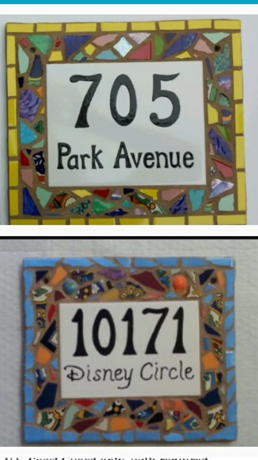Amazon tile mosaic house number plaque address or name sign amazon tile mosaic house number plaque address or name sign custom hand made garden outdoor dailygadgetfo Gallery