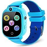 PROGRACE Kids Smartwatch with 90°Rotatable Camera Touchscreen Kids Watch Music Pedometer Flashlight Games FM Radio Kids Smart