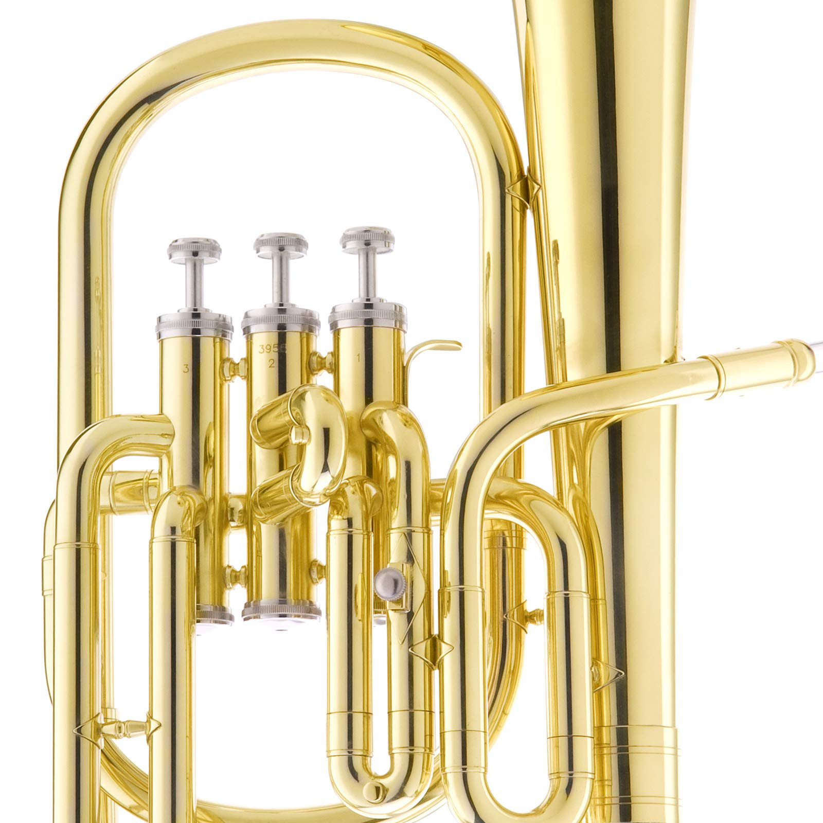 Mendini E Flat Alto Horn with Stainless Steel Pistons, Lacquered by Mendini by Cecilio (Image #5)