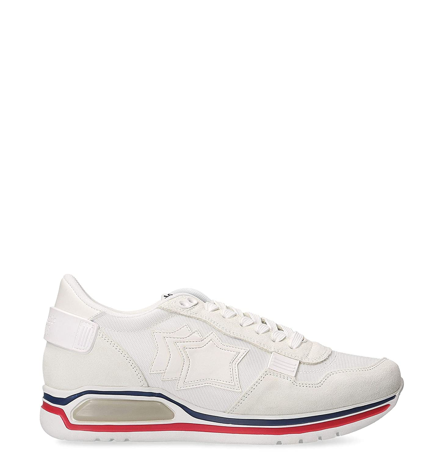 - ATLANTIC STARS Men's PEGASUSLIT1J03 White Suede Sneakers