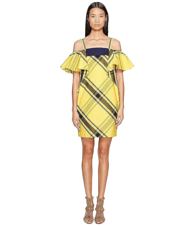 63ef2b960d157 (スポーツマックス) Sportmax レディース Navata Strapless Ruffle Dress ドレス Bright  Yellow 並行輸入