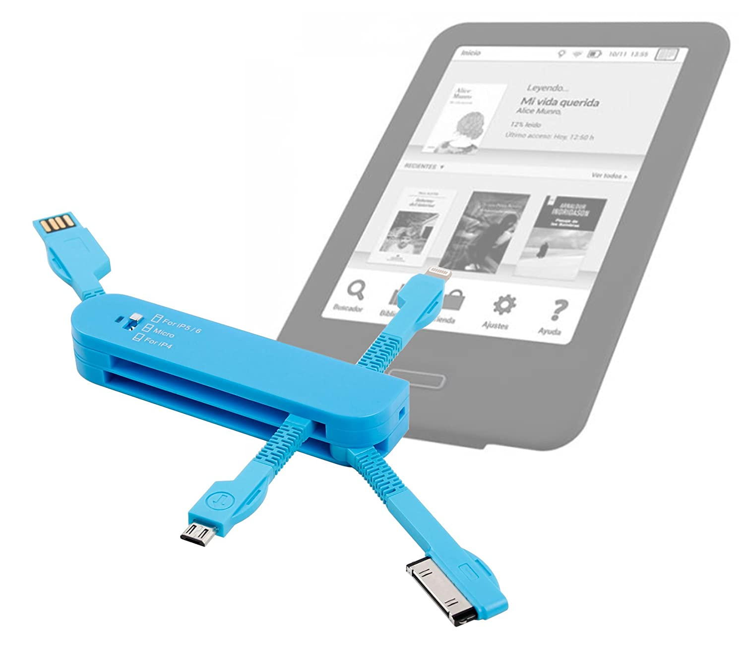 Multi-Cargador Azul Para eReader Energy Sistem eReader Screenlight ...