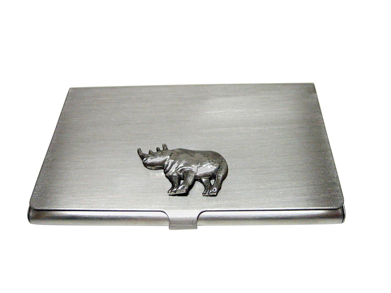 Textured Rhinoビジネスカードホルダー   B01FQDDZFC