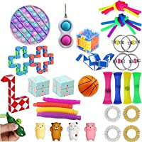30Pcs Fidget Toys Pack Cheap, Simple Dimple Fidget Toy, Stress Relief and Anti-Anxiety Toys Bundle for Kids and Adults…