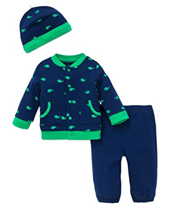 8d9c071ae Amazon.com  Little Me Baby Boys  3 Piece Knit Cardigan Pant Set with ...
