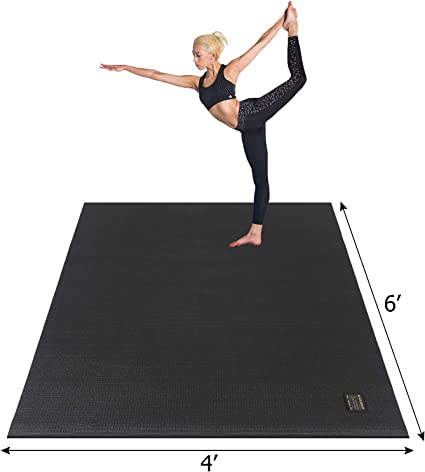 Amazon Com Gxmmat Large Yoga Mat 72 X 48 6 X4 X 7mm For Pilates Stretching Home Gym Workout Extra Thick Non Slip Anti Tear Exercise Mat Use Without Shoes Sports Outdoors