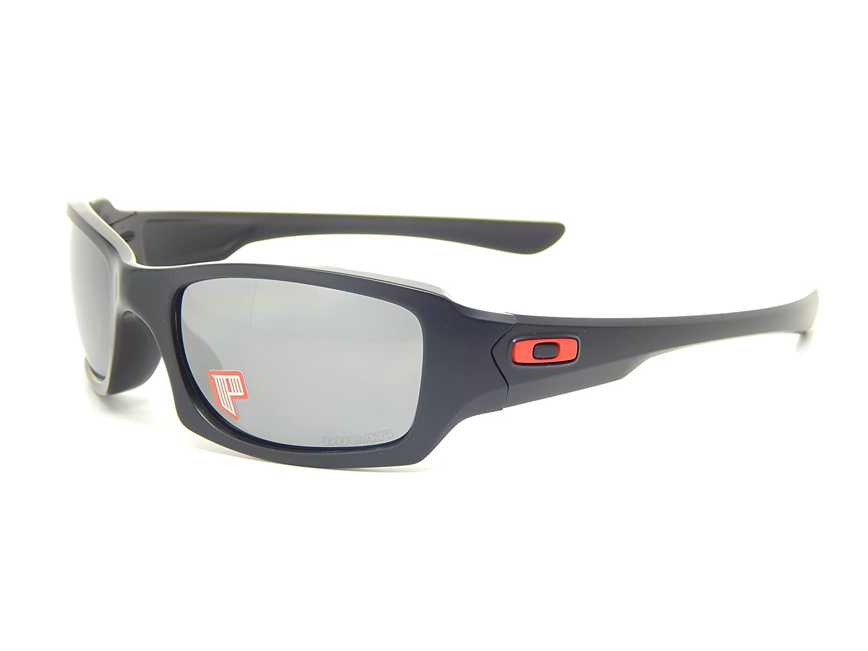 f48719c39b Amazon.com  Oakley Ducati Fives Squared 24-191 Matte Black Black Iridium Polarized  Sunglasses  Clothing