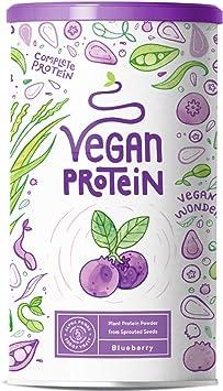 Proteina Vegana | MORA AZUL | Proteína vegetal de arroz, guisantes, semillas de lino, amaranto, semillas de girasol y semillas de calabaza germinadas ...