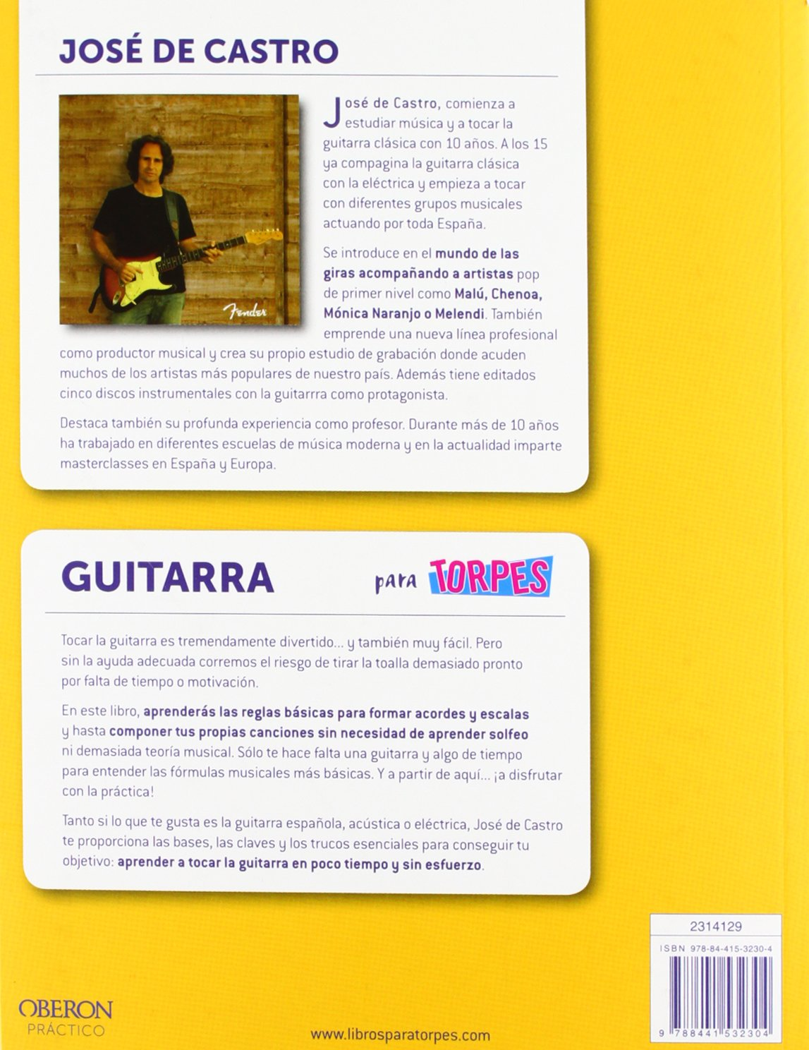 Guitarra: José Luis de Castro Martín: 9788441532304: Amazon.com: Books